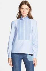 See By Chloe Embroidered Oxford Shirt Blue