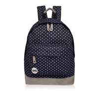 River Island Mens Navy Spotted Denim Mi Pac Backpack