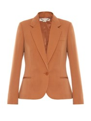 Stella Mccartney Merielle Single Breasted Wool Jacket Camel