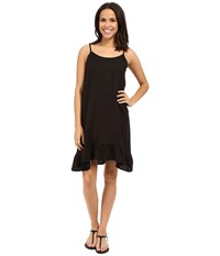 Allen Allen Linen Tank Dress Black Women's Dress