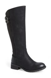 Women's Very Volatile 'Mira' Riding Boot Black Faux Leather