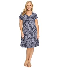 Fresh Produce Plus Size Cancun Effortless Dress Charcoal Grey Women's Dress Gray