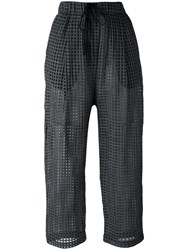 Damir Doma 'Pae' Cropped Trousers Red