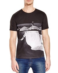 Hugo Halfpipe Skateboard Graphic Slim Fit Tee Black
