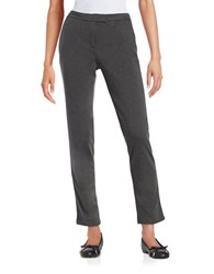 Karl Lagerfeld Ponte Knit Pants Heather Charcoal