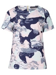 Sugarhill Boutique Harriet Camo Top Multi Coloured
