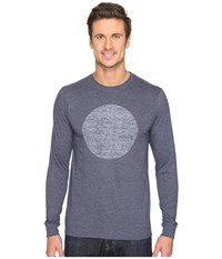 Hurley Circular Long Sleeve Tee Heather Obsidian Men's T Shirt Blue
