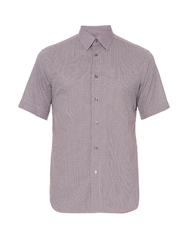 Brioni Geometric Print Short Sleeved Shirt