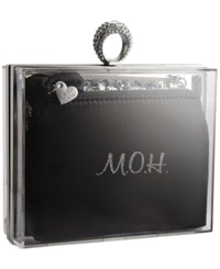 Blue By Betsey Johnson Clutch In A Box Black Silver