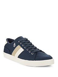 Original Penguin Round Toe Lace Up Sneakers Navy