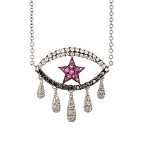 Ileana Makri Women's Crying Star Eye Pendant Necklace No Color