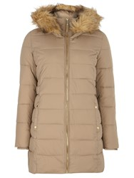 Dorothy Perkins Luxe Faux Fur Padded Jacket Brown