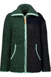Alexander Wang T By Boucle Knit Sweater Forest Green