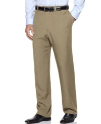 Haggar Classic Fit Repreve Stria Flat Front Dress Pants Taupe