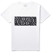 Public School Printed Cotton Jersey T Shirt White