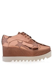 Stella Mccartney Elyse Lace Up Platform Shoes Copper