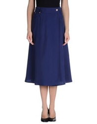 Veronique Branquinho 3 4 Length Skirts Blue
