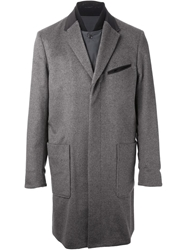 Mihara Yasuhiro Coat And Jacket In One Grey