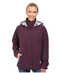 Carhartt Force Equator Jacket Plum Seal Grey Women's Coat Burgundy