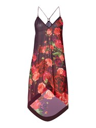 Ted Baker Reneye Rose Print Cover Up Burgundy