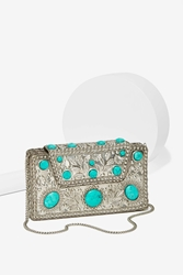 Nasty Gal From St Xavier Elsi Turquoise Clutch