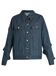 Maison Martin Margiela Ruffle Sleeve Denim Jacket
