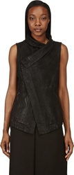 Ma Julius Black Perforated Leather Vest