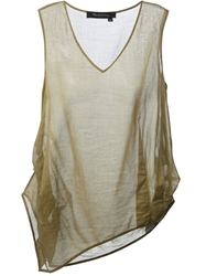 Manila Grace Asymmetric Tank Nude And Neutrals
