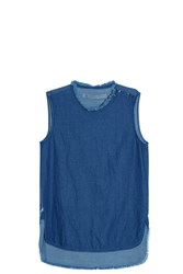 Raquel Allegra Denim Tank Top Blue