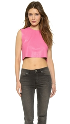 Love Leather Candy Crop Top Neon Pink