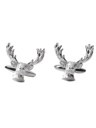 Paul Costelloe Antler Head Cufflink Silver