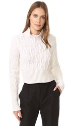 Holly Fulton Maggie Sweater White