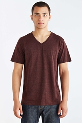 Bdg Standard Fit Tri Blend V Neck Tee Brown