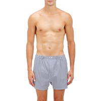 Barneys New York Striped Boxers White