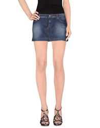 Dandg Denim Denim Skirts Women Blue