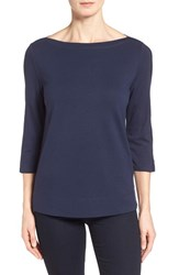 Women's Nordstrom Collection 'Bianca' Three Quarter Sleeve Jersey Top