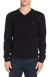 Original Penguin Men's V Neck Lambswool Sweater True Black