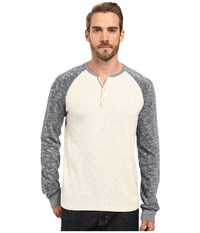 Lucky Brand Grey Label Color Block Henley Oatmeal Men's Clothing Brown