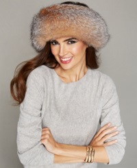 The Fur Vault Fox Fur Headband Crystal