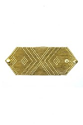 Urbiana Large One Popper Antique Gold Chainmail Bracelet