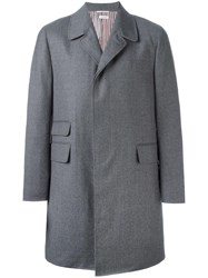 Thom Browne Single Breasted Coat Grey