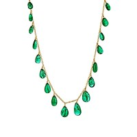 Munnu Women's Emerald And Yellow Gold Necklace No Color