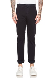 Band Of Outsiders Cotton Chino Pants In Blue