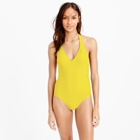 J.Crew Long Torso Halter One Piece Swimsuit