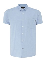 Duck And Cover Men's Larch Short Sleeve Shirt Glacier
