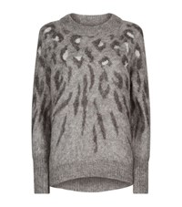 Allsaints Arley Animal Jumper Female Grey