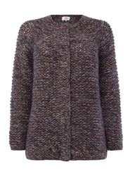 Noa Noa Chunky Colour Melange Cardigan Purple