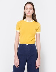 Which We Want Milan Knit Top Mustard