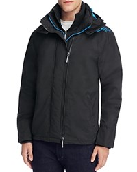 Superdry Pop Zip Hood Arctic Windcheater Jacket Black Denby Blue