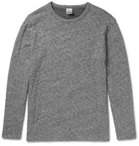 Faherty Reversible Melange Cotton Jersey T Shirt Gray